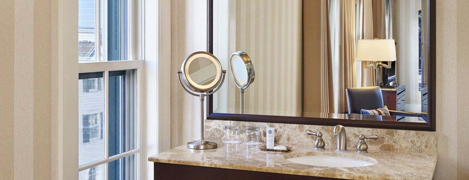 The Equinox, a Luxury Collection Golf Resort & Spa, Vermont traditional guest room bathroom Orvis Inn